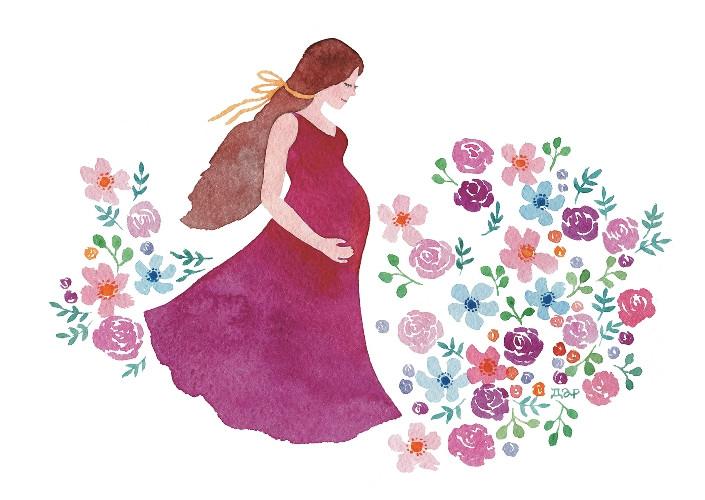Видеоролик анимация, открытка с днем рождения беременной дочке