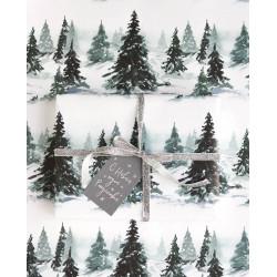 Бумага Зимний лес