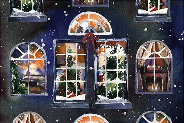 "Открытка ""В новогодних окнах""_img_0"