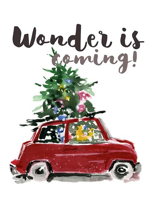 "Раскладная открытка ""Wonder is coming""_img_0"
